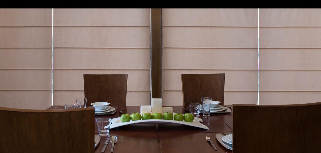 Cortina Soft Roman Hunter Douglas -  Sala de jantar